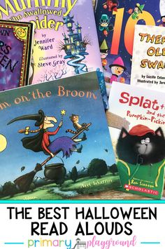 The Best Halloween Read Alouds. These books are perfect to read to the class or at home during the month of October. #halloweenbooks