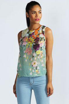 Maya Open Back Floral Blouse