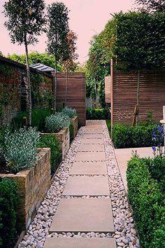 Rose Garden Design, Garden Design Plans, Modern Garden Design, Patio Design, Modern Design, Water Features In The Garden, Interior Garden, Front Yard Landscaping, Landscaping Ideas