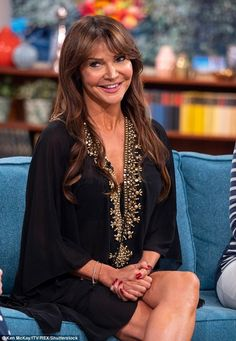 Lizzie Cundy shows off her bottom in a thong bikini on This Morning Footballers Wives, Bikinis, Swimwear, Thong Bikini, Bell Sleeve Top, Shows, Legs, How To Wear, Women
