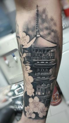 Follow-me Instagram >>> @junninho.will Japanese Temple Tattoo, Japanese Dragon Tattoos, Japanese Tattoo Art, Japanese Tattoo Designs, Japanese Sleeve Tattoos, Full Sleeve Tattoos, Tattoo Sleeve Designs, Tattoos Masculinas, Tribal Arm Tattoos