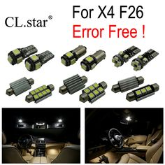 21pc X canbus Error Free LED Reading Bulb Interior Dome Light Kit for BMW X4 F26 xDrive20i xDrive28i xDrive35i M40i (2014+). Yesterday's price: US $31.99 (26.14 EUR). Today's price: US $30.07 (24.43 EUR). Discount: 6%.