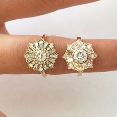 The Heiress ring by Heidi Gibson: prong setting versus bezel setting
