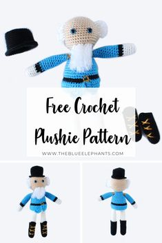 This is a pattern for an adorable and easy crochet nutcracker! He's the perfect little addition to your holiday crafts. Get the free crochet pattern here!
