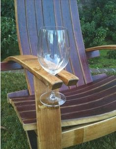 wine holding chair,  this is perfect for patios, and cottage docks