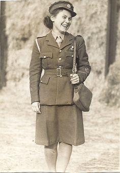 A woman's military uniform