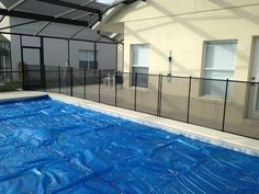 Pool Fences New Smyrna Beach - Pool covers will keep debris out of the pool, but are very dangerous if children fall in the pool. Baby Barrier Pool Safety Fence can guard your pool during all seasons of the year from pool accidents! #PoolSafetyFence #PoolSafety #BabyBarrier