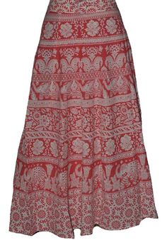 Pink Coloured Block Print Jaipuri Wraparound Skirt  http://alicolors.com/index.php?route=product/product&product_id=1172