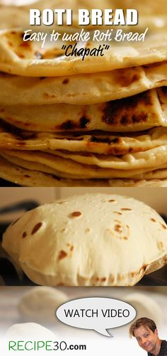 Flat bread made with few ingredients. Unlike traditional breads, Chapati or roti bread is simple to make as there's no yeast, so no proving. It only requires five minutes of kneading, ten minutes of resting and cooks in minutes.