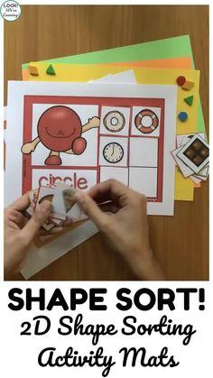 Shape Sort! Preschool Shape Sorting Mats
