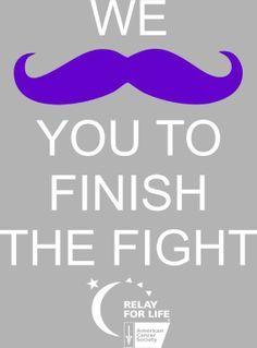We mustache you to Finish the Fight!