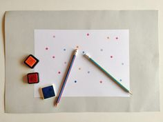 Turn your pencil eraser into a polka dot stamp