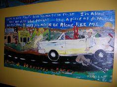 Painting of Hank Williams at Ajax Diner in Oxford  by Flem Snopes, via Flickr