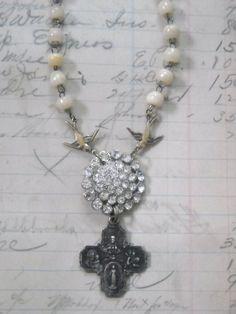 #jewelry #vintage #rhinestone #repurposed