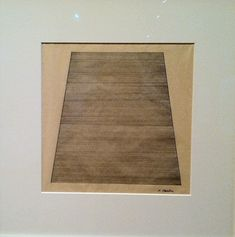 """Agnes Martin, """"Mountain,"""" ink on paper, 1960"""