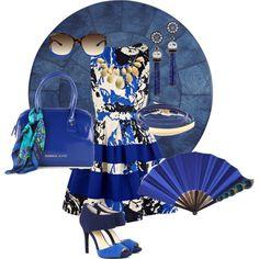True Blue by fashionhabits, via Polyvore