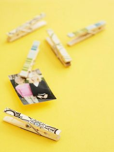 Clever Clothespin Magnets