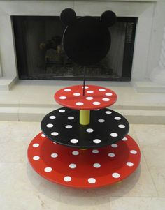 Whimsical Minnie / Mickey Mouse  Cupcake Stand