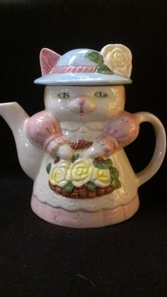 Mother Cat Tea Pot 152 by RubyLaneTreasures on Etsy
