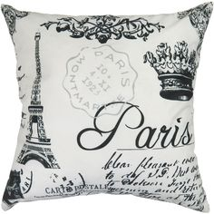 Paris Collage Printed Decorative 100% Cotton Throw Pillow Reviews ❤ liked on Polyvore featuring home, home decor, throw pillows, cotton throw pillows, paris france home decor, paris throw pillows, parisian home decor and paris home decor