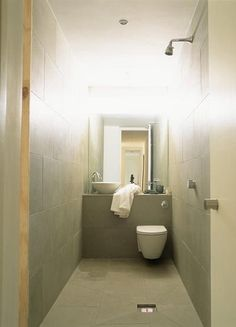 Small Toilet Room Downstairs Loo Grey