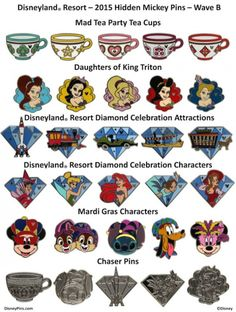 Next Wave of Hidden Mickey Pins Releasing at Disney Parks in November 2015 - Disneyland pins - Disney Cruise Line, Disney Fun, Disney Magic, Disney Pixar, Disney Villains, Disney Mickey, Disney Characters, Disney Pin Trading, Rare Disney Pins