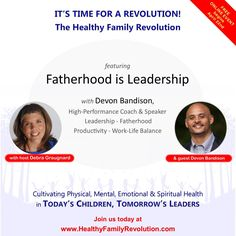 JOIN DEVON BANDISON for FATHERHOOD IS LEADERSHIP. Are you concerned about what's happening with our children? Are you looking for answers to your family health and wellness challenges? Please join this group of family-life experts who will be addressing the tough challenges you and your family are facing today. REGISTRATION IS NOW OPEN!