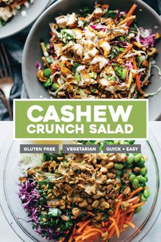 Cashew crunch salad with sesame dressing - that& the healthy summer recipe that . - Cashew crunch salad with sesame dressing – this is the healthy summer recipe that … – Best EA - Clean Eating Recipes For Dinner, Clean Eating Snacks, Healthy Eating, Clean Eating Vegetarian, Clean Dinners, Healthy Weeknight Dinners, Dinner Healthy, Paleo Dinner, Nutritious Meals