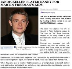 That is too cute! And I want Ian as my babysitter too...and Martin as my dad...