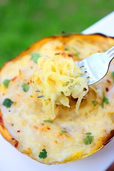Skinny-Spaghetti-Squash-Alfredo Tween and two year old loved this-husband (who hates all veggies) ate it but didn't love.
