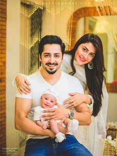A Dose of Beauty- Pakistani Celebrity Couples. Take a look at these celebrity couples and the beauty: Read More. Couple With Baby, Family Photos With Baby, Baby Boy Pictures, Family Pictures, Cute Family, Beautiful Family, Family Goals, Happy Family, Couple Goals