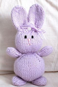 Free knit Bunny Pattern Golden Triangle Knitting Guild: happy easter!