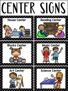 145 Best Center signs images | Pre school, Classroom setup ...