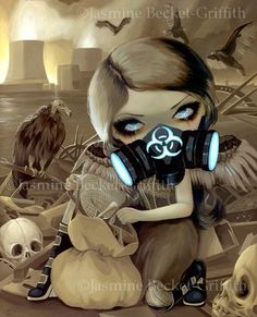 Charognards cyberpunk post-apocalyptique féerie art impression par Jasmine Becket-Griffith 8 x 10