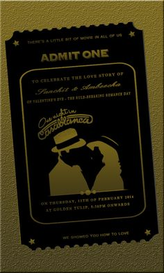 casablanca theme invite