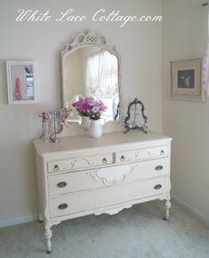 French Chic Bedroom Makeover Through Upcycling ! Beautiful ! Has all the  tips & Tutorials !