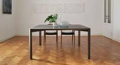 #Gregorio is a #dining or a #conference #table. #natural #materials are combined in a beautiful and elegant way.