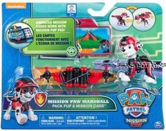 *Paw Patrol 2017 MISSION PAW MARSHALL PACK PUP + MISSION CARD- Exclusive* #SpinMaster