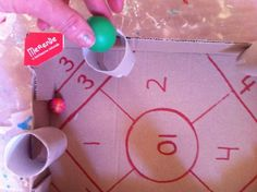 A quick and easy to make game for number recognition and simple math that your kids will love to play