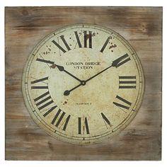 "For guest bathroom Aspire 27"" London Bridge Station Square Wall Clock"