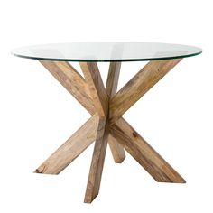 CROSS LEG DINING TABLEThe Cross Leg Table is one of the most iconic of accent tables there is. Its so simple and straightforward, rubbed with an antique natural wax which will age over time to a beautiful Store Decor, Furniture, Table, Round Glass, Accent Table, Dining Table Legs, Coffee Table, Home Decor, Weylandts