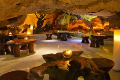 Alux Caverna Restaurant in Playa del Carmen, Mexico. It's a restaurant inside a cave. It doesn't get much better than that.