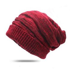 c2d2ff08704 Arherigele Women Men Hat And Cap Autumn Winter Warm Knitted Beanies Female  Baggy Oversized Slouch Striped