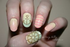 maybe just coral pink and the anchor on the ring finger