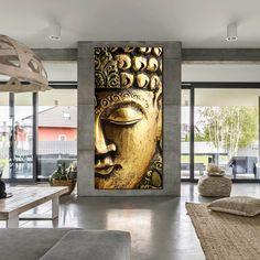 Buddha Meditation Canvas Print, Gold Buddha Mind and Soul Canvas Wall – Dwallart