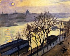 Sun over Paris (also known as Sun Seen Through the Trees) Albert Marquet - circa 1910
