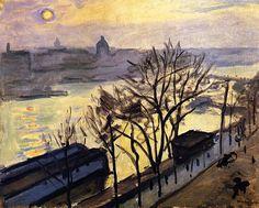 Sun over Paris (also known as Sun Seen Through the Trees) Albert Marquet - circa 1910