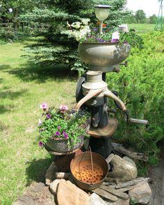 Matt 39 s finished cream separater fountain http www for Garden separator
