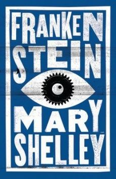 This is a fantastic book cover of Mary Shelley's classic Frankenstein
