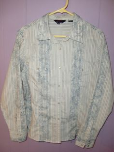 Roper Floral Old West Paisley L s Western Women's Pearl Snaps Shirt Top Size XL   eBay
